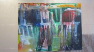 Thai Ho Pham, Bewusstes Scheitern, 2012, oil on canvas, 150 x 200 cm