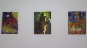 Thai Ho Pham, Der Ursprung von allen Dingen, 2015, oil mix technique on canvas, 60 x 45 cm Thai Ho Pham, Oh my God Tits, 2015, oil mix technique on canvas, 60 x 45 cm Thai Ho Pham, Tits Heaven, 2015, oil mix technique on canvas, 60 x 45 cm