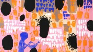 Gärtnerei, 2011, Acryl auf Leinwand, 33 x 50 cm