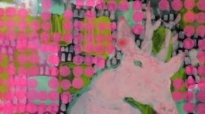 o.T., 2014, Acryl auf Papier, 43 x 33 cm
