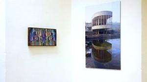 Bernhard Paul, GFH_05, 2012, Acryl auf Aludibond gerahmt, 23 x 46 cm; Holger Zimmermann, Bloso, 2010, FineArt-Plex, 5. Auflager, 90 x 60 cm