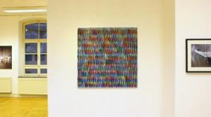 Bernhard Paul, PGSR_10, 2011, Acryl auf Leinwand, 90 x 90 cm Holger Zimmermann Griff 2009, Fotografie, 5. Auflager, 40 x 30