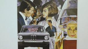 Aaron Vidal, Ihr Auto fährt..Sie schlafen, 2013, Acryl auf Leinwand, 100 x 100 cm