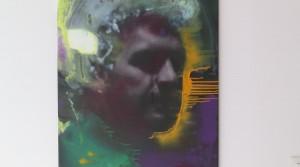 Danksagung an den Scheinheiligen, 2013, Ölmischtechnik auf Leinwand, 100 x 70 cm