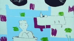 """Tom Kristen, Druck aus der Serie """"Interieur Suit"""", 2009, Siebdruck, Auflage 5, 50 x 65,5 cm"""