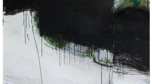 Kejoo Park, Reh verloren II, 2015, Mischtechnik auf Leinwand, 140 x 140 cm