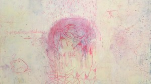 """Rebecca I "" , 2012, Mischtechnik auf Leinwand, 100 x 140 cm"