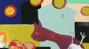 Tier, 2010, Acryl auf Leinwand, 40 x 40 cm